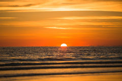 Sun in ocean Royalty Free Stock Photos
