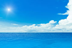 Sun and ocean. Tropical horizontal composition Stock Photography