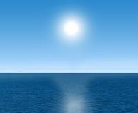 Sun och hav Arkivbilder