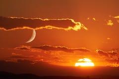 Sun och moon royaltyfri foto
