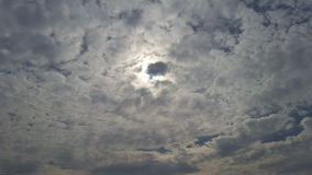 Sun och oklarheter Arkivfoto