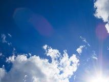 Sun och oklarheter Arkivfoton