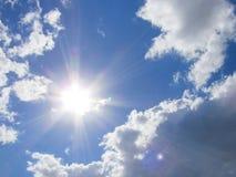 Sun och oklarheter Arkivbild