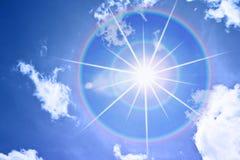 Sun och sky Royaltyfri Fotografi