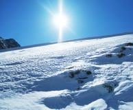 Sun och Snow Royaltyfria Foton