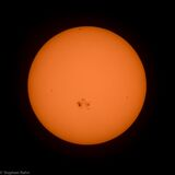 Sun on October 23rd, 2014 Royalty Free Stock Image
