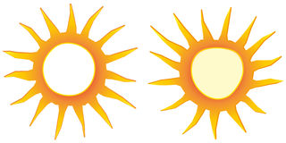 sun offer sign flat design label business seasonal shopping vector badge stock illustration