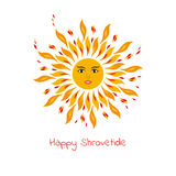 Sun - one of the symbols of Shrovetide. Royalty Free Stock Photo