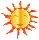 Sun openwork smiley smiling hot summer vector Royalty Free Stock Photo
