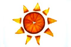 Sun orange Royalty Free Stock Image