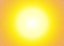 Sun orange halftone circles horizontal background. Sunny yellow frame using halftone dots texture. Vector illustration. vector illustration