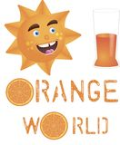The sun with orange juice Stock Images