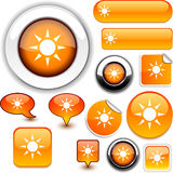 Sun orange signs. Royalty Free Stock Image