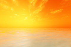 Sun in orange sky Stock Images