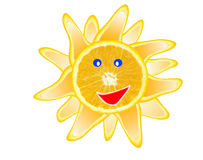 Sun orange slince Royalty Free Stock Photos