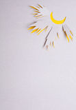 Sun origami Stock Images