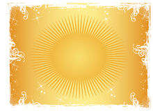 Sun Ornament. Work with vectors illustration Stock Image