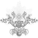 Sun ornament vector Royalty Free Stock Photos