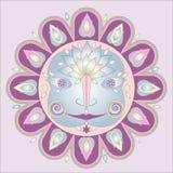 Sun ornamental pattern Royalty Free Stock Image