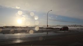 Sun Out while Snowing stock footage