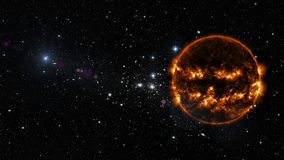 Sun in outer space. Elements of this image furnished by NASA Stock Photography