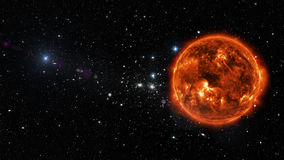 Sun in outer space. Elements of this image furnished by NASA Stock Image
