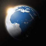 Sun over Africa on planet Earth Royalty Free Stock Photo