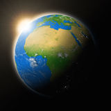 Sun over Africa on planet Earth Stock Image