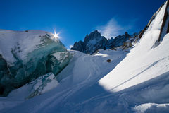 The sun over the Alps Stock Photos