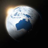 Sun over Australia on planet Earth Stock Images