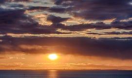 Sun over the bay Stock Photos
