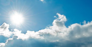 Sun over clouds Stock Images