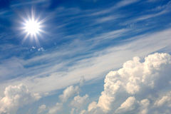 Sun over clouds Royalty Free Stock Image