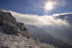 Sun over clouds Royalty Free Stock Photography