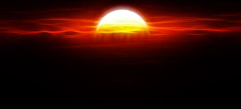 Sun over dense atmosphere Royalty Free Stock Image