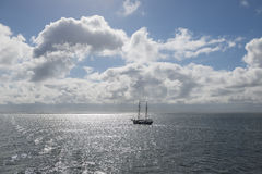 Sun over the Dutch Wadden Sea Royalty Free Stock Photo