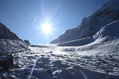 Sun over glaciers Royalty Free Stock Photography