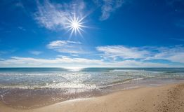 Sun over Gulf of Mexico stock photography