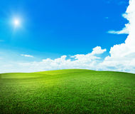 Sun over hills. Summer good weather Royalty Free Stock Image