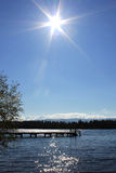 Sun over the lake Royalty Free Stock Photos