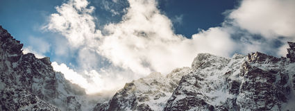 Sun over mountains peak Royalty Free Stock Images