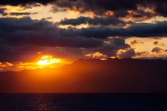 Sun over Negros Royalty Free Stock Photos