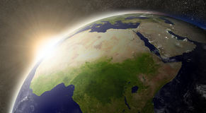Sun over North Africa Royalty Free Stock Photography