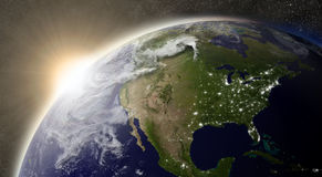 Sun over North America Royalty Free Stock Image