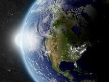 Sun over North America Royalty Free Stock Photo
