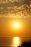 Sun over the ocean Royalty Free Stock Photos