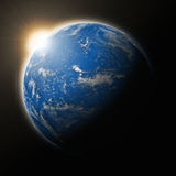 Sun over Pacific Ocean on planet Earth Royalty Free Stock Photos