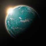 Sun over Pacific Ocean on planet Earth Royalty Free Stock Image
