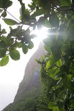 Sun Over the Piton Stock Image