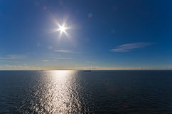 Sun over sea Royalty Free Stock Photos